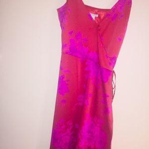 Brand New Floral Print Asymmetric Wrap Dress